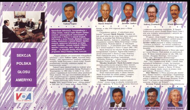 Broszura reklamowa Sekcji Polskiej Głosu Ameryki z lat 90-tych.